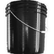 Leaktite B5GSKD 5 Gallon Black Plastic Industrial Pail