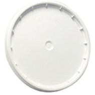 Leaktite 6GLD010 5 Gallon White Easy Off Plastic Pail Lid