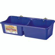 Miller Mfg HFP24DBLUE Little Giant 24 Inch Divided Plastic Feeder Blue