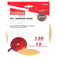 Goldblatt G25642 Vortex 9 Inch Hook And Loop Drywall Sanding Discs 120 Grit Medium Fine 15 Pack