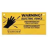 Zareba WS3 Sign Fence Warning Electric 3 Pack