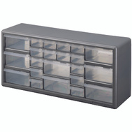Stack On DS 22 3 Storage Cabinet 22 Drawer Silver Gray