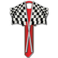 Lucky Line B116K Key Blank Checkered Flag Kw