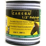Zareba PT656WH-Z 1/2 Inch Poly Tape White 656 Foot