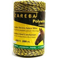 Zareba PW656Y6-Z 656 Foot 6 Strand Polywire Yellow