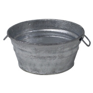 Behrens 101LFT Tub Low-Flat Hot-Dip Stl 1Qt