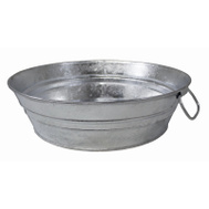 Behrens 102LFT Tub Low-Flat Hot-Dip Stl 2Qt