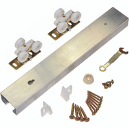 LE Johnson 100721DR Single Pocket Door Track Set 72 Inch Aluminum