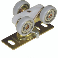LE Johnson 1125PPK1 Ball Bearing Tri Wheel 200 Pound Pocket Door Hanger