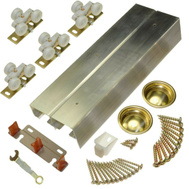 LE Johnson 134F722D 72 Inch Bypass 36 Inch Door Hardware Set 1-3/4 Inch