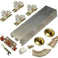 LE Johnson 138F722D 72 Inch Bypass 36 Inch Door Hardware Set 1-3/4 Inch