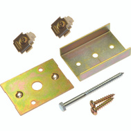 LE Johnson 1555PPK3 Converging Pocket Door Kit Dull Brass