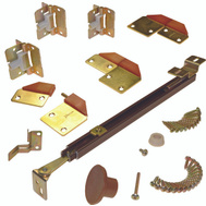 LE Johnson 1601218P Bi-Fold Door Hardware Set 2 12 To 18 Inch Panels 36 Inch Overall
