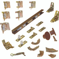LE Johnson 1700606H Bi-Fold Door Hardware Set 4 Door 60 Inch Brown Track