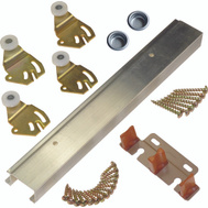 LE Johnson 2200482D 2 Door 3/4 Or 1-3/8 Bypass Hardware Set 48 Inch Overall