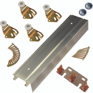 LE Johnson 2200F601 Fascia 2 Door 1-3/8 Inch Bypass Hardware Set 60 Inch Overall