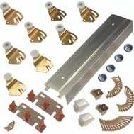 LE Johnson 2200F961 Fascia 2 Door 1-3/8 Inch Bypass Hardware Set 96 Inch Overall