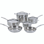 Cuisinart 77-10 Chefs Classic Cookware 10 Piece Stainless Steel