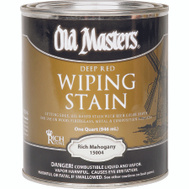 Old Masters 15004 Wiping Stain Rich Mahogany Quart