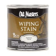 Old Masters 15216 Wiping Stain Espresso 1/2 Pint