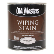 Old Masters 15304 Stain Wiping Carbon Black 1Qt