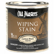 Old Masters 15316 Stain Wiping Carbon Blk 1/2Pt