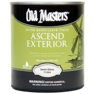 Old Masters 74604 Ascend Spar Urethane Water Exterior Semi Gloss Quart