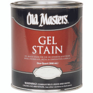 Old Masters 80204 Gel Stain Interior Exterior Golden Oak Quart