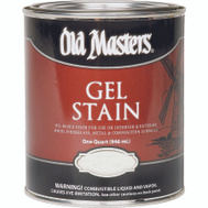 Old Masters 80404 Gel Stain Interior Exterior Red Mahogany Quart