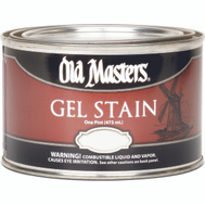 Old Masters 80408 Gel Stain Interior Exterior Red Mahogany Pint