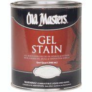 Old Masters 80704 Gel Stain Interior Exterior Dark Walnut Quart