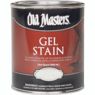 Old Masters 81104 Gel Stain Interior Exterior Dark Mahogany Quart