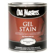 Old Masters 82004 Gel Stain Interior Exterior Weathered Wood Quart