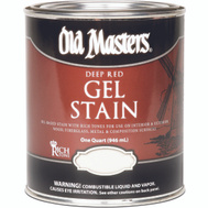 Old Masters 84104 Gel Stain Interior Exterior Crimson Fire Quart