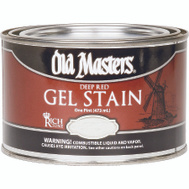 Old Masters 84308 Gel Stain Interior Exterior Rich Mahogany Pint
