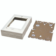 Wiremold B-2 On Wall 1 Inch Deep Ivory Outlet Box