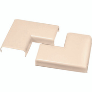 Wiremold NM6 Plastic 90 Flat Elbow Ivory