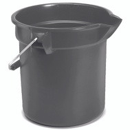 Rubbermaid Commercial FG296300GRAY Bucket Heavy Duty Gray 10Qt