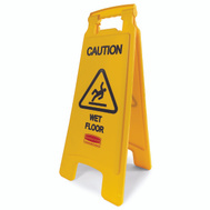 Rubbermaid Commercial FG611277YEL Floor Sign Caution Yellow