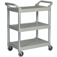 Rubbermaid Commercial FG342488PLAT Cart Utility Platinum 200 Pound
