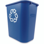 Rubbermaid Commercial FG295673BLUE Wastebasket 28Qt Med Blue