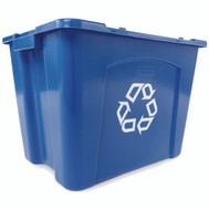Rubbermaid Commercial FG571473BLUE Recycle Box 14 Gallon Blue Stacking