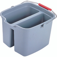 Rubbermaid Commercial FG261700GRAY 17 Quart Double Pail