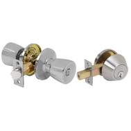 Tell CS300TD-ALT-US15-SCC Finishing Touches Collection Keyed Entry And Single Cylinder Deadbolt Satin Nickel Keyed-Alike Grade 3