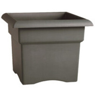 Bloem VER18908 Planter Box Sq Charcoal 18in