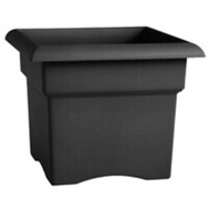 Bloem 57914 Planter Box Sq Black 14in