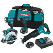 Makita XT442 Kit Combo Lxt 18v 4-Pc