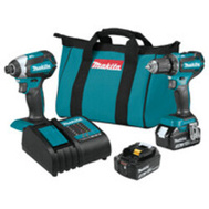 Makita XT281S Kit Combo Brshls 18v 2-Pc