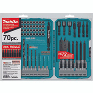 Makita T-01725 70 Piece Impact Drill-Driver Bit Set