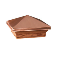 Maine Ornamental 72217 Post Cap 4X4in Cedar Copper